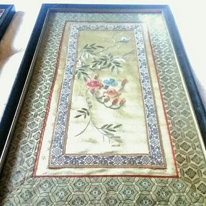 Vintage Wall Art - Vintage Asian Silk Art